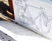 2013 Bicycle Wall Calendar / Coloring Book / Illustrations / Bike Drawings / Bike Art / Velo