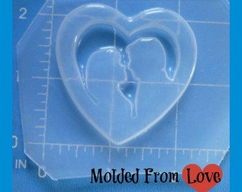 SALE Some Day My Prince ( or Princess)  Will Come Heart   Flexible Plastic Handmade Resin Mold-
