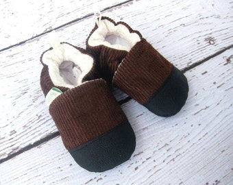 Classic Vegan Cabin Loafers / Non-Slip Soft Sole Baby Shoes / Made to Order / Babies Toddlers Preschool