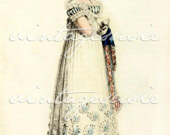 ACKERMANN Regency Fashion Plate Print COLLAGE SHEET 1816 Print 10 Digital Download Jane Austen