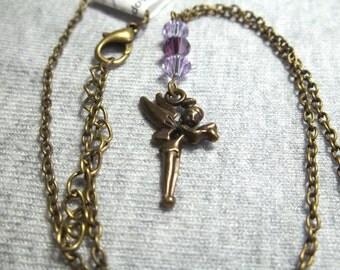 Fairy Necklace, Swarovski Crystals, Fairy Jewelry, Swarovski Jewelry