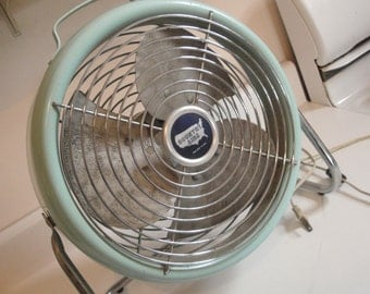 1950s Vintage Country Aire Electric Fan Baby Blue
