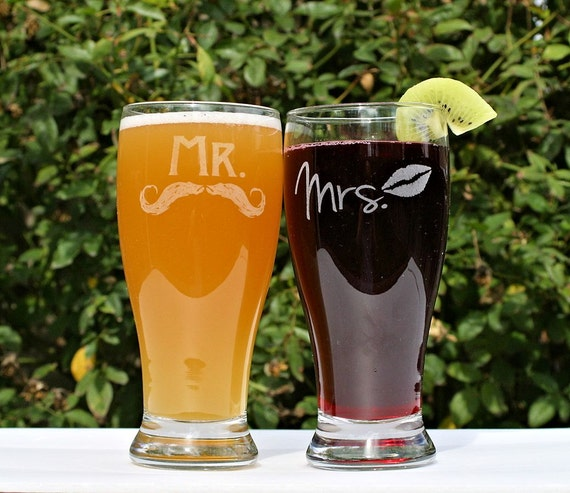 Etched Glass Wedding Gifts: Anniversary Gift For Couple Mr And Mrs Gifts Mr And Mrs