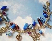 Flower Child Charm Bracelet