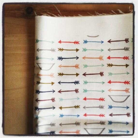 bows and arrows - navy - original fabric - fat quarter - arrow fabric