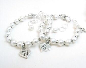 Sister Bracelets // Sister Jewelry // Matching Sister Bracelets // Big Sister Gift // Sister Bracelet Set // Matching Sister Jewelry