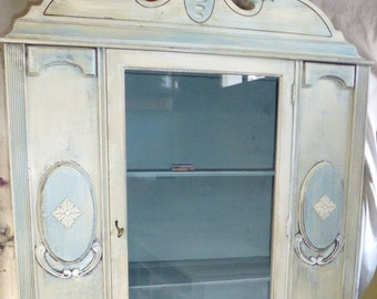 China Closet VINTAGE PAINT to ORDER Poppy Cottage Painted Furniture