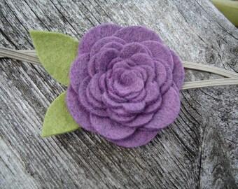 Vintage Wool Felt Flower - Lilac lavendar