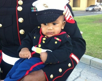 Marine Corps - usmc - Marine Corps Baby - Baby Marine Corps - Baby Marine Corps Clothes - dress blues cover - Hobbyist License #21512