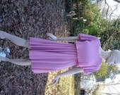 80s Dress / Vintage Dress / Pink Dress /Pleated Dress by New Discoveries Size 6-8