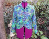 Mod 1960s Jacket Psychedelic Jacket Fitted Waist Jacket Cropped Jacket 60s Psychedelic Mad Men Patty Woodard California Op Art 1950s 50s