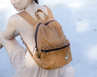 Campus Leather Backpack