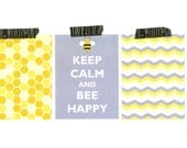 Bee Happy, Digital Project Life Printable, 3x4 Scrapbook Embellishment Cards