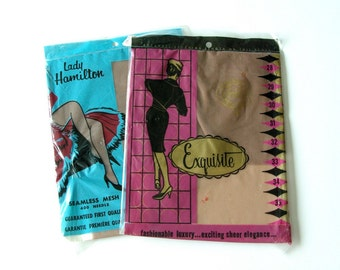 2 pair nos vintage ladies hosiery - 1211091