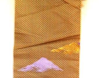 1960s EMBROIDERED SILK Kimono FABRIC