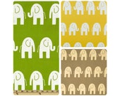 Cotton Baby Play Mat. Large Marching Elephants. Single Padded.