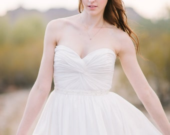 Mackenzie Inspired Knot Front Wedding Dress