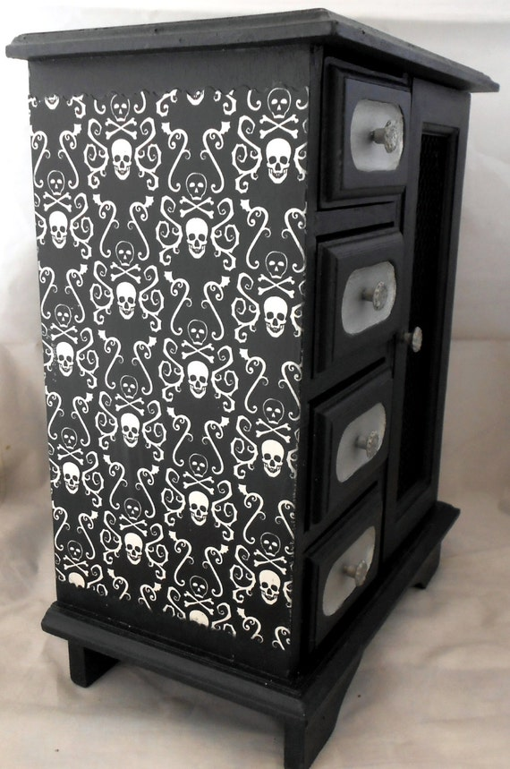 Gothic Home Decor Gothic Curio Cabinet Skull By