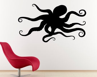 Octopus Decal - Ocean Decor - Octopus Wall Art - Large
