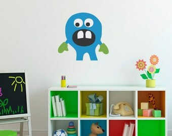 Monster Wall Decal - Monster Wall Art - Children Wall Decals - 2