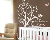 Nursery wall decal - THE ORIGINAL Tree with Birds and Nest
