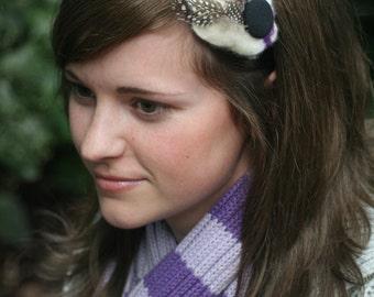 Sasha Felt Headband: Purple, Black, White