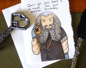 Hobbit Birthday Card - Oin the Dwarf - Over the Hill