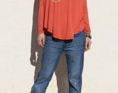 Swing Top in Modal -Burnt Orange
