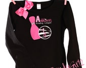 Boutique Custom Personalized Fancy Bowling Birthday Theme Party Shirt Tank Design Your Own