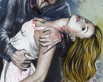 """Sookie is mine - True Blood Traditional Art Watercolor Painting - Fine Art Print 15x20cm (5.9""""x7.8"""") - Hand Signed"""