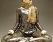Yoga Art, Ceramic Figure Sculpture of a Woman in Meditation, Contemporary Buddha Statue