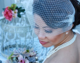 13 inch Double Layered Bandeau Birdcage Veil