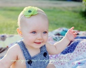 Baby Flower Headband...Green...Baby Headband...Newborn Headband...Toddler Headband...Green Headband...St Patricks Day