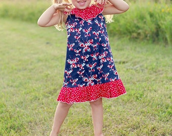 Peasant Dress Pattern, Girls Ruffle Dress Pattern, Girls Dress Pattern, Ruffle Dress Pattern, Matilda Jane Pattern, Lauren Dress, 3m-10