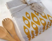 Modern Shapes - Tea Towel - Screen Printed