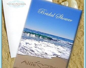 Beach Themed Bridal Shower Invitations -folded 5x7 cards. Beach Themed Bridal Shower - Unique Shower Invites- Bridal Brunch - Beach Wedding