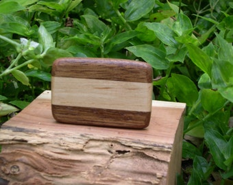 Wood Belt Buckle walnut and maple  ( free shipping )