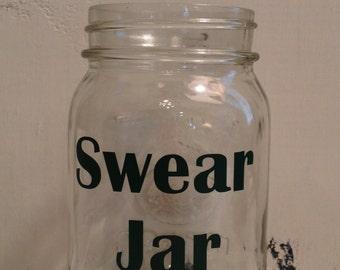 Swear Jar Vinyl Decal ~ Bad Word Jar Decal ~ Swear Decal ~ Custom Jar Decal ~ No Swearing ~ Do Not Swear ~ No Cursing ~ Curse Jar Decal