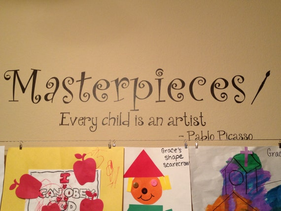 Masterpieces - Every Child Is An Artist Pablo Picasso with Paintbrush Wall Decal