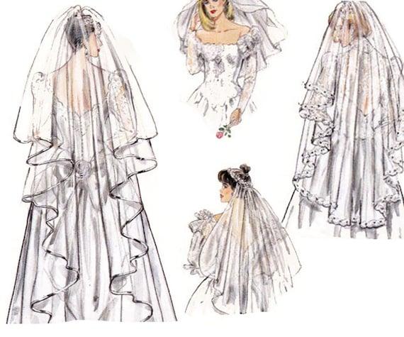 Wedding Veils And Headpieces Patterns: Wedding Veils Sewing Pattern Burda 5038 UNCUT FF