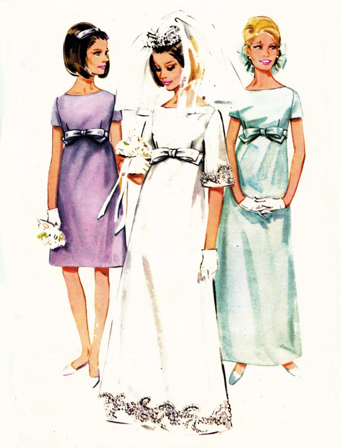 Wedding Dress Patterns Empire Line : S empire line wedding dress pattern butterick