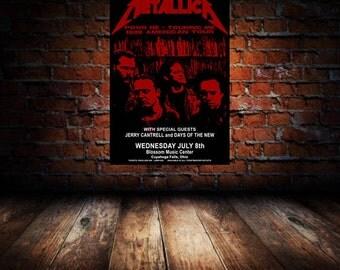Metallica 1998 Cleveland Concert Poster