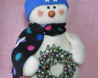 "Snowman pattern:  ""Wreaths for Sale"" - #630"