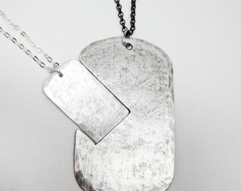 PUZZLE NECKLACE : His and Hers Interlocking Dog Tag Necklace