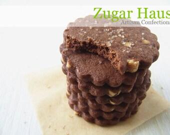 Mesquite Chocolate Almond Shortbread Cookies