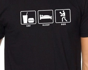 Eat Sleep BOX MENS T-shirt / Boxing T Shirt - Funny Tshirt Cool Shirt Gift Graphic Tee