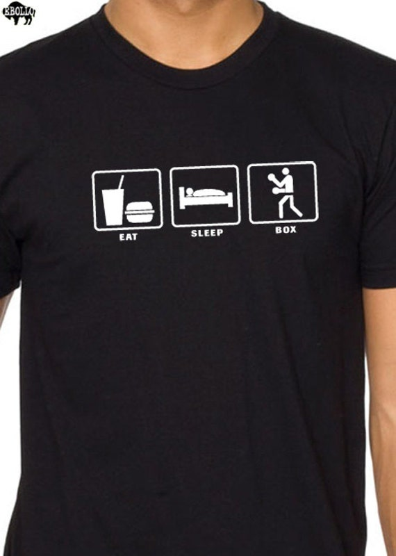 Eat Sleep BOX MENS T-shirt / Boxing T Shirt Funny Tshirt