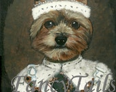 Yorkie Chewy the King Notecard