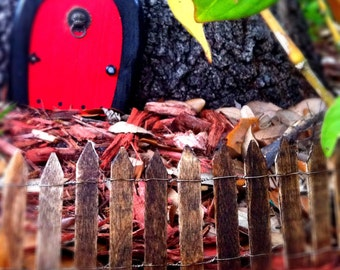Miniature wooden picket fence Fairy Gnome garden