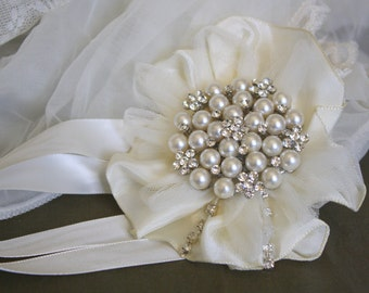 Wrist Corsage  Wedding Bridal Jewelry  Brooch Corsage Mothers of the Bride & Groom Gift Wedding Corsage